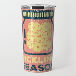Pickling Season print Funny Pickleball Game Gift Travel Mug