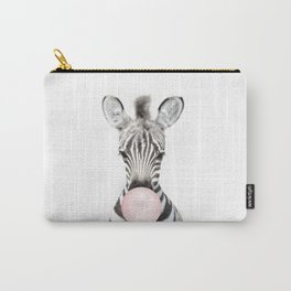 Bubble Gum Zebra Carry-All Pouch