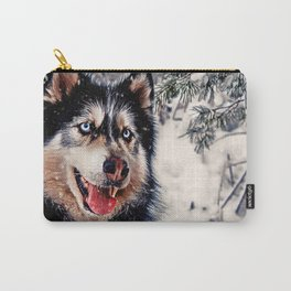 Playful Husky Carry-All Pouch