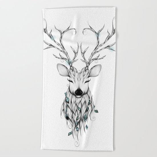 Poetic Deer Beach Towel