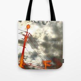 Vivid electricity Tote Bag