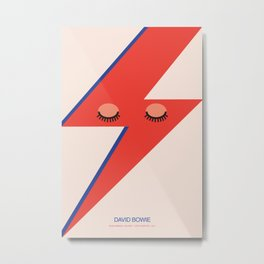 Music Minimals - David Bowie Metal Print