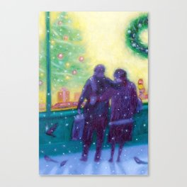 winter window shopping Canvas Print