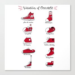 Variations of Converse Canvas Print