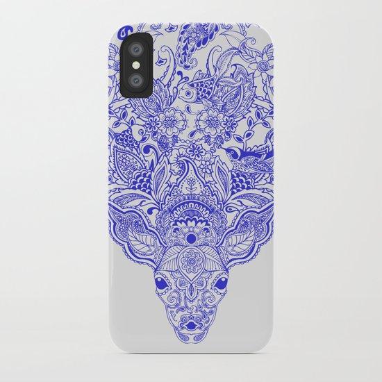 Little Blue Deer iPhone Case