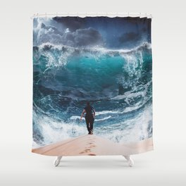 Game Over by GEN Z Shower Curtain