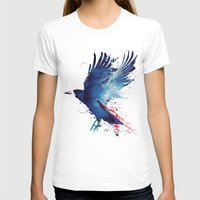 blood T-shirts featuring Bloody Crow by Robert Farkas