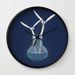 Don't forget to water your wind turbines Wall Clock