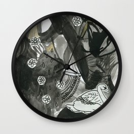 Swan Dreams Wall Clock