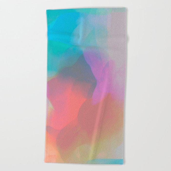 watercolor paint Beach Towel