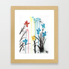 Primary Orchids Framed Art Print