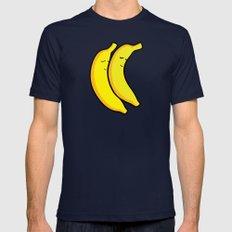Spooning Bananas Navy MEDIUM Mens Fitted Tee