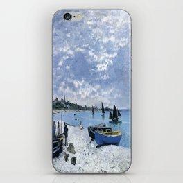 Claude Monet : Regatta at Sainte-Adresse / The Beach at Sainte Adresse iPhone Skin
