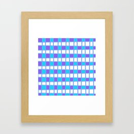 Playful Plaid in Purple and Light Blue Framed Art Print