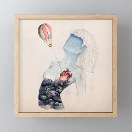 Save it on an airbaloon! Framed Mini Art Print