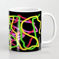 neon Mugs featuring Neon by Vitta