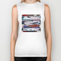cityscape Biker Tanks featuring Cityscape  by MonsterBrown