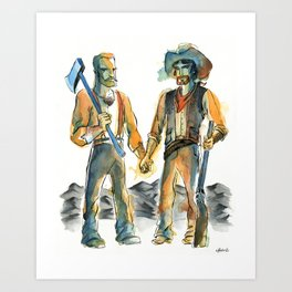Homestead Husbands Art Print