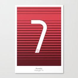 Ronaldo 7 Canvas Print