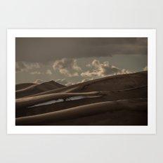 Small People. Big Sand. Don't Trip! Art Print