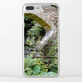 A Stone Arch Decorates the Garden Clear iPhone Case