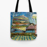 sleep Tote Bags featuring Sleep by Melizzany