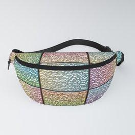 Pastel Rainbow Chrome Tiles Fanny Pack
