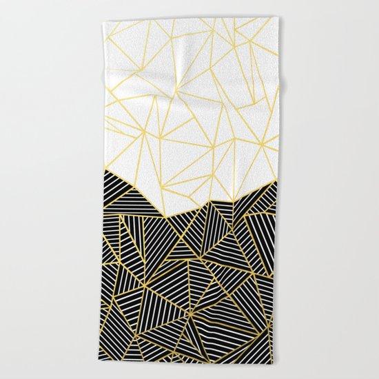Ab Half and Half White Gold Beach Towel