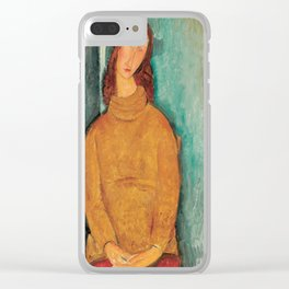 Portrait of Jeanne Hébuterne by Amedeo Modigliani Clear iPhone Case