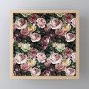 Vintage & Shabby chic - dark retro floral roses pattern by vintage_love
