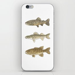 Trout, Bass, & Walleye iPhone Skin