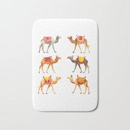 Cute watercolor camels Bath Mat