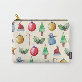 Christmas!! Pattern! (Holidays) Carry-All Pouch