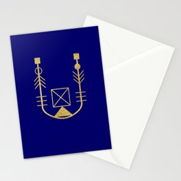 Sacred Geometry Letter U Stationery Cards