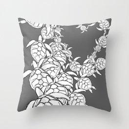 Commission-sea turtles Throw Pillow