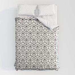 Hand Drawn Hypercube Duvet Cover