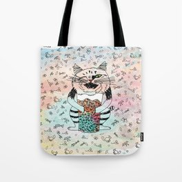 Emotional Cat. Playful. Tote Bag