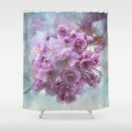 Painterly blossom Shower Curtain