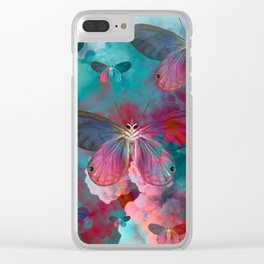 """Spring Butterfly love"" Clear iPhone Case"