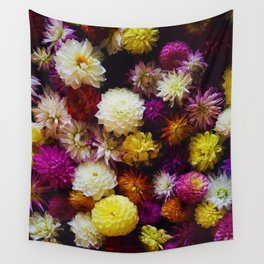 Pop Color Flowers (Color) Wall Tapestry