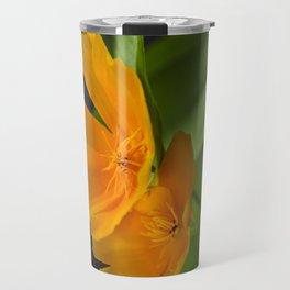 Orange Poppies Travel Mug