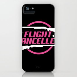 Funny Trap Shooting Desig Flight Cancelled Perfect Clay Gift product iPhone Case