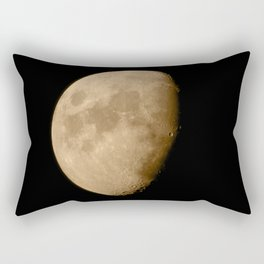 4K Dark Side of the Moon Golden Yellow Rectangular Pillow