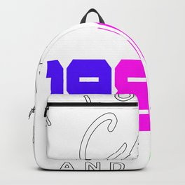 I Love My Cat 80s Retro And Naps Backpack