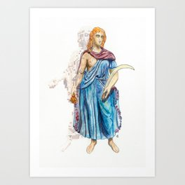 Personifications of Thrace and Egypt Art Print