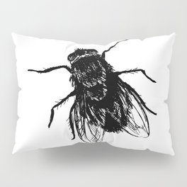 Drawing house-fly Pillow Sham