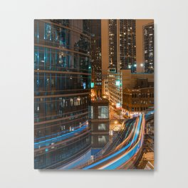 Subway Light Trails II Metal Print