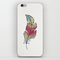 feather iPhone & iPod Skins featuring Feather by Juste Pixx Designs