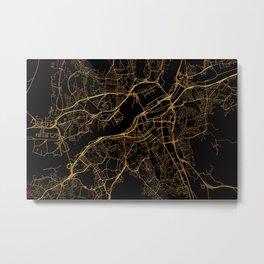 Gothenburg map, Sweden Metal Print