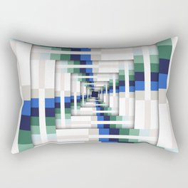 Layers of Colorful Stripes Rectangular Pillow